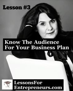 The typical audience for your business plan: a. Bank or any other entity that will provide a loan b. Provider of equity funding c. The owner or C-level of existing business Making A Business Plan, Writing A Business Plan, Business Plan Template, Business Advice, Business Planning, Business Women, Planning Cycle, Profit And Loss Statement, Leadership Skill