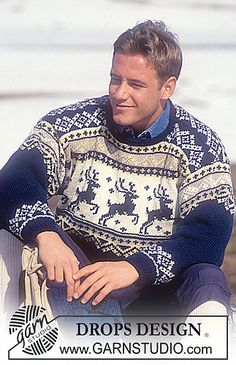 New Knitting Men Sweater Pattern Drops Design Ideas Knitting Patterns Free, Free Knitting, Free Pattern, Knitting Sweaters, Free Crochet, Crochet Patterns, Christmas Knitting, Christmas Sweaters, Crochet Christmas