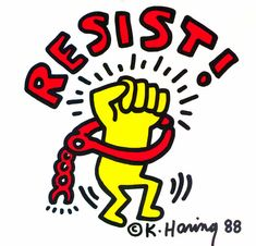 Available for sale from Lot Keith Haring, Keith Haring Resist in Concert! poster 1988 Offset lithograph, 29 × 23 in Keith Haring Art, Keith Haring Poster, Lgbt History, Graffiti Drawing, Principles Of Art, Architecture Tattoo, Albrecht Durer, Photo Wall Collage, Images Google