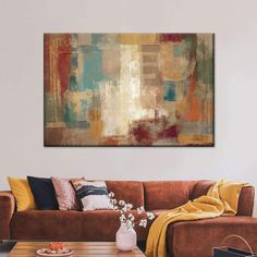 Oriental Trip Crop Multi Panel Canvas Wall Art carefully handcrafted to bring unique style into your home. Change the entire feel of any space and make an interesting statement with this abstract canvas print. Create Canvas, Large Canvas Wall Art, Abstract Canvas Art, Artist Canvas, Artist Painting, Canvas Frame, Teal Chair, Red Wall Art, Living Room Canvas