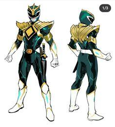 Power Rangers Fan Art, Power Rangers Cosplay, Power Rangers Comic, Mighty Morphin Power Rangers, Character Concept, Character Art, Character Design, Green Power Ranger, Pawer Rangers