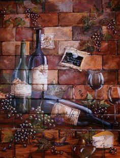 wine cellar mural - Google Search