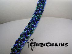 Bracelet - Kinged Vipera Berus by Chibichains on DeviantArt #Chainmail #chainmaille #KingsViperaBerus #bracelet #Chibichains
