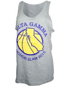 Delta Gamma Anchor Slam Tank by Adam Block Design | Custom Greek Apparel & Sorority Clothes | www.adamblockdesign.com