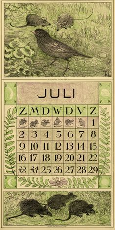 Theodoor van Hoytema, calendar 1916 July