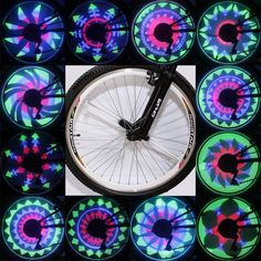YQ8001 led rgb防水バイク自転車ホイールスポークライトクール変色バイクタイヤライトホイールランプ