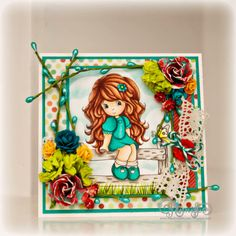 THINKING OF YOU, 3D Handmade Greeting Card by Jenn