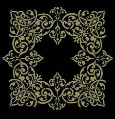 Alhambra Square Medallion stencil
