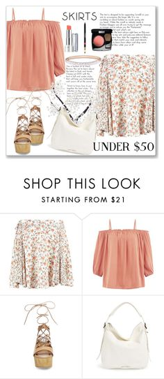 """""""Skirts Under $50"""" by andrejae ❤ liked on Polyvore featuring New Look, Steve Madden, Jimmy Choo, Thomas Sabo, under50 and skirtunder50"""