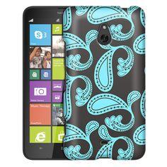 Nokia Lumia 1320 Paisley Turquoise on Grey Slim Case