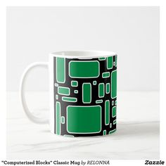 """Computerized Blocks"" Classic Mug"