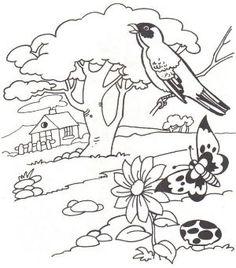 Spring Landscape Coloring Pages