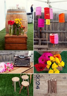 Relaxed colour (via Surprise... We Got Married! Part II: The Story & The Styling » Eat Drink Chic)