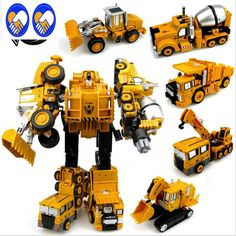 A Toy A Dream Transformation Robot Car Metal Alloy Engineering Construction Vehicle Truck Assembly Deformation Toy #Affiliate