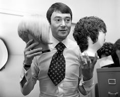 """Vidal Sassoon (1928-2012) was an English hairdresser, credited with creating a simple geometric, """"Bauhaus-inspired"""" hair style, also called the wedge bob. Due to the popularity of his styles, he was described as """"a rock star, an artist, [and] a craftsman who 'changed the world with a pair of scissors.'"""""""