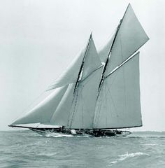 Classic sailing yacht Cicely