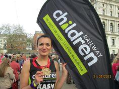 Kasia Bailey ran the 2013 London Marathon for Railway Children. Well done Kasia!