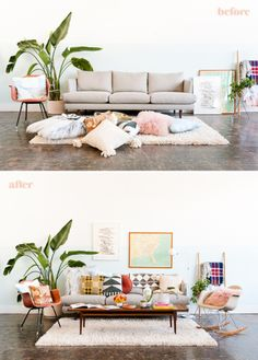 Get Cozy: How to Style Your Sofa for Fall | Pinterest | Blank canvas ...