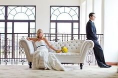Event Soiree: Yellow and Blue Wedding Inspiration.