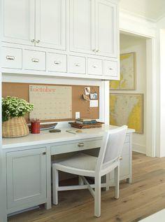 office nook in kitchen, storage etc