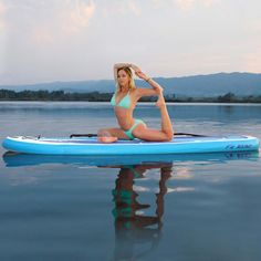 Water Yoga anyone? Test your balance on the Airhead Fit 1032 Stand Up Paddleboard from Family Leisure! Family Leisure, Surf Girls, Family Goals, Paddle Boarding, Girl Humor, Water Sports, Stand Up, Yoga Fitness, Yoga Poses
