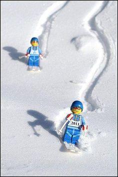 LEGO skiers - very cute!