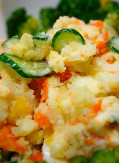 Japanese Salad: This Potato Mayonnaise Salad is a Typical Mom's Cooking in Japan.