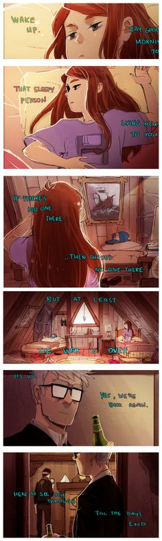 """-1-  All credit goes to http://starfleetrambo.tumblr.com/ """"Lyrics are from """"In Our Bedroom After the War"""" by Stars so I suggest you play this while reading the thing or it won't have much of an effect.   #GravityFalls"""
