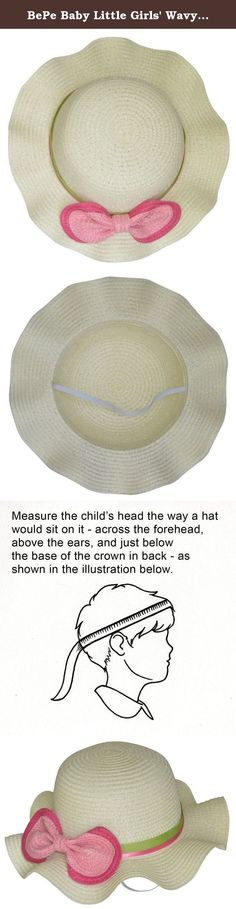 BePe Baby Little Girls' Wavy Brim Straw Sun Hat - Size 3-6 Years - Vanilla. Cool and breezy lightweight sun bonnet. Dressed up or dressed down, this is the perfect summer hat for little girls... stylish and practical! Your little girl will make a statement for stylish fashion wearing this wavy brim straw sun hat for toddlers and little girls. Keep your girl's precious head protected when out in the sun, or wear it just for the super cute style!.