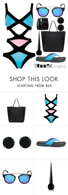 """Summer Brights"" by j-n-a ❤ liked on Polyvore featuring Agent Provocateur, BillyTheTree, New Balance, Christian Louboutin and summerbrights"