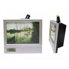f863f7b92 Porta Retrato Com Relógio Digital e Porta Caneta Personalizado. Arquivos  Porta Retrato Personalizado - Omega Brindes