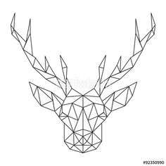 Vector: Polygonal Deer head. Creative art icon stylized