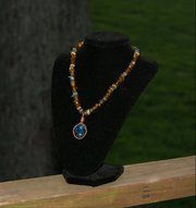 Blue and Brown Natural Stone necklace