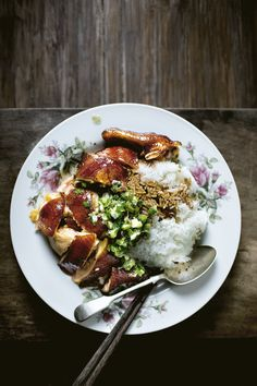 Silky slow-cooked soy sauce chicken rice