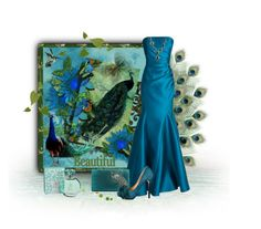 """""""Peacock Perfect"""" by kmlvr9 ❤ liked on Polyvore featuring maurices, Badgley Mischka, Lulu Townsend and Alexis Bittar"""