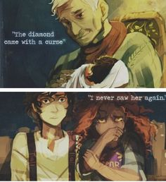 This part is just sad. Leo Valdez and Hazel Levesque from The Heroes of Olympus.