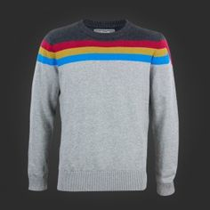 Wesley Tricolor Stripe Sweater - WeLoveFine.com (XL)