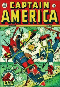 Captain America - http://www.inspirefirst.com/2012/04/02/comic-book-propaganda-wwii/