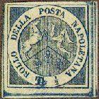 1860 Sicily, ½t 'TRINACRIA'.