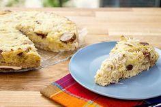 Leckerer Low-Carb Bratwürstchen-Sauerkrautkuchen