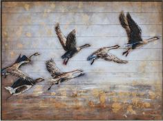The Flight South On Wood 36x48 Original Art, The Originals, Wood, Collection, Woodwind Instrument, Timber Wood, Wood Planks, Trees, Woodworking