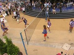 TODAY anchors take on U.S. men's beach volleyball team