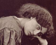 Dante Gabrielle Rossetti / Jane Morris -  artist and model.