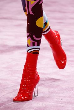 Love those wet look booties at Christian Dior - Spring 2015 Couture - Look 17 of 119