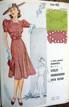 1938 Masionette Frocks Salesman's Sample