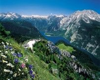 Konigssee - Beautiful Lake in scenic valley