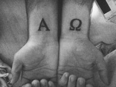 Alpha and Omega tattoo.i want my tattoo to be like this but have there be the rest of it built around it