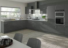 grey gloss kitchen - Google Search