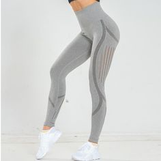 Cute Nurse Love Pink Womens Tummy Control Sports Running Yoga Workout Leggings Pants M