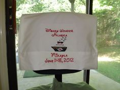 2 Personalized Pillowcases Disney Cruise Ship - Choose What You Want On It!